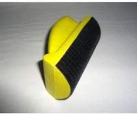 12-12D (924016) Малый  полужёсткий шлифок Hookit, полукруглый  127х70 мм