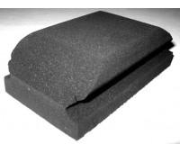 (185320/К1073) Klingspor Шлифок резиновый с липучкой  68х118мм