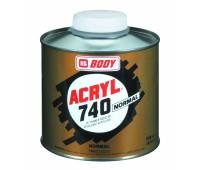 Body 740. Растворитель HS нормальный для акриловых эмалей, грунтов и лаков__0.5л.