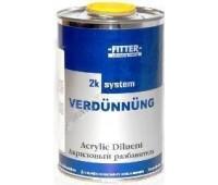 FITTER. Разбавитель стандартный для базовых красок, металликов и перламутров,  1л