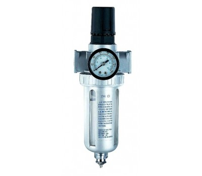"""Voylet. AFR-80 Фильтр-влагоотделитель с манометром и регулятором давления, 1/4"""""""