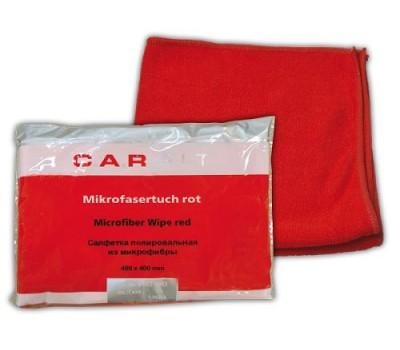 CarFit (8-803-0002) Салфетка полировальная из микрофибры, (красная) 400х400 мм