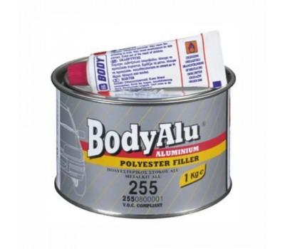 Body 255. Шпаклевка полиэфирная алюминиевая с отвердителем, 1 кг