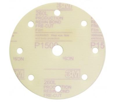 3М. 62012 Круг шлифовальный на липучке,150мм 9отв. Р1200
