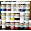 Краски для изделий из кожи, кожзама, резины, латекса.