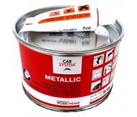CARSYSTEM. (130852) 9253 METALLIC шпаклевка полиэфирная алюминиевая с отвердителем, 1 кг