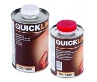Quickline. Лак прозрачный акриловый HS+отвердитель (комплект 1л+0.5л)